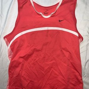 Nike  Dri-FIT Salmon Pink Tennis Border Tank